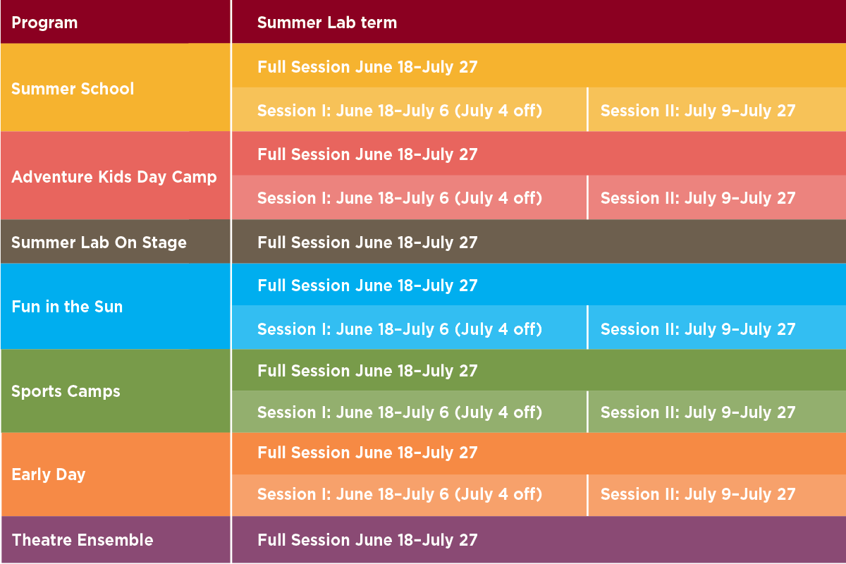 schedules university of chicago laboratory schools